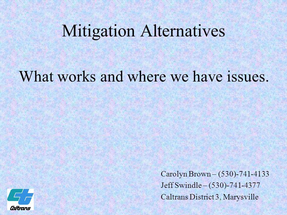 Mitigation Alternatives