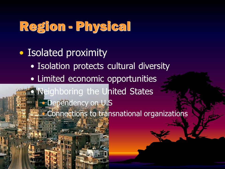 Region - Physical Isolated proximity