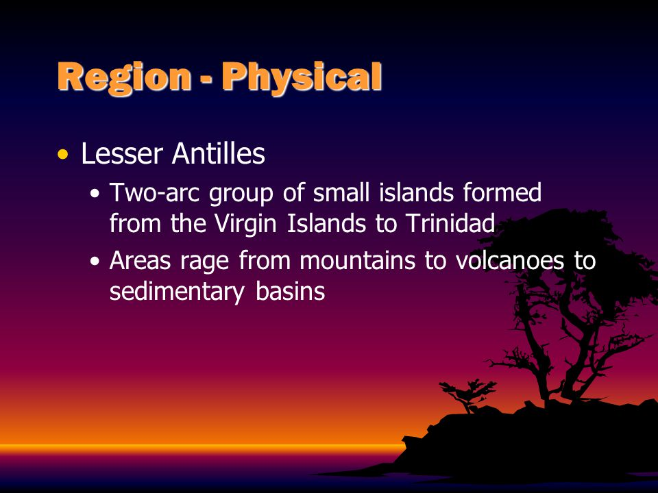 Region - Physical Lesser Antilles