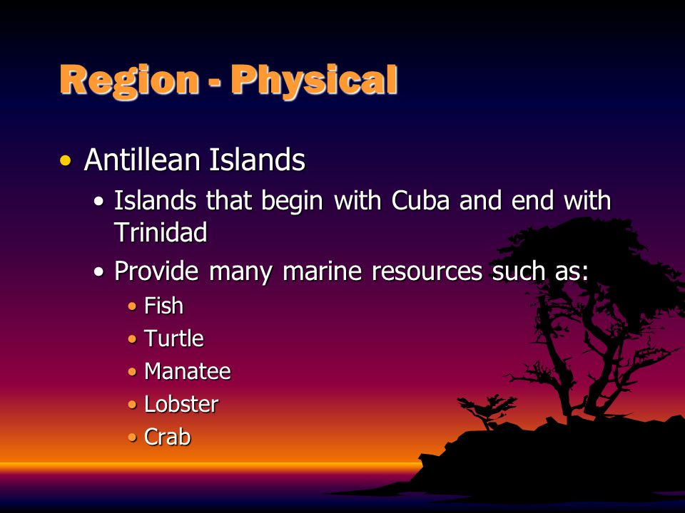 Region - Physical Antillean Islands
