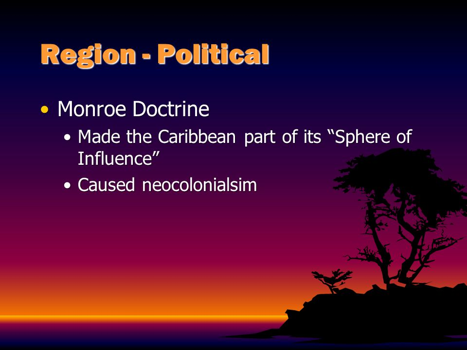 Region - Political Monroe Doctrine