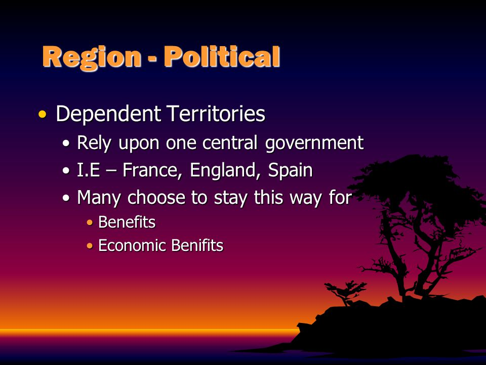 Region - Political Dependent Territories