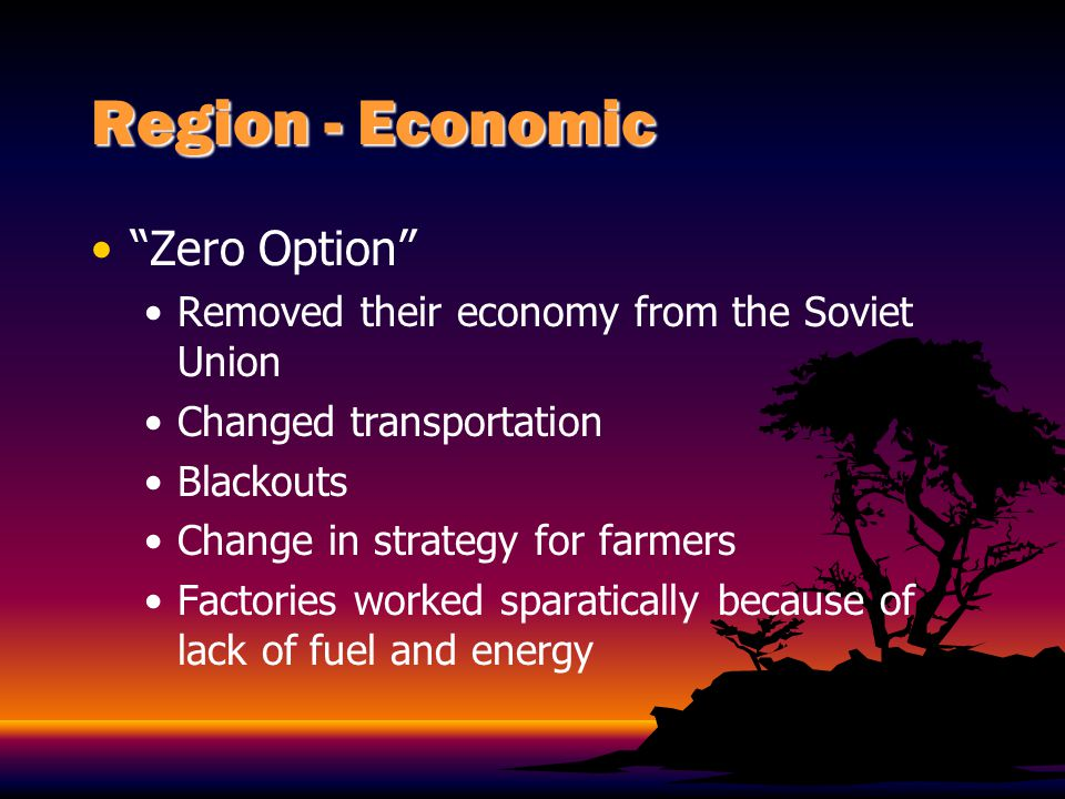 Region - Economic Zero Option
