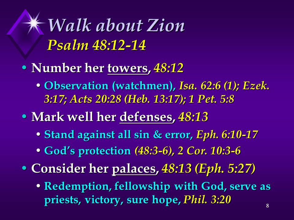 Walk about Zion Psalm 48:12-14