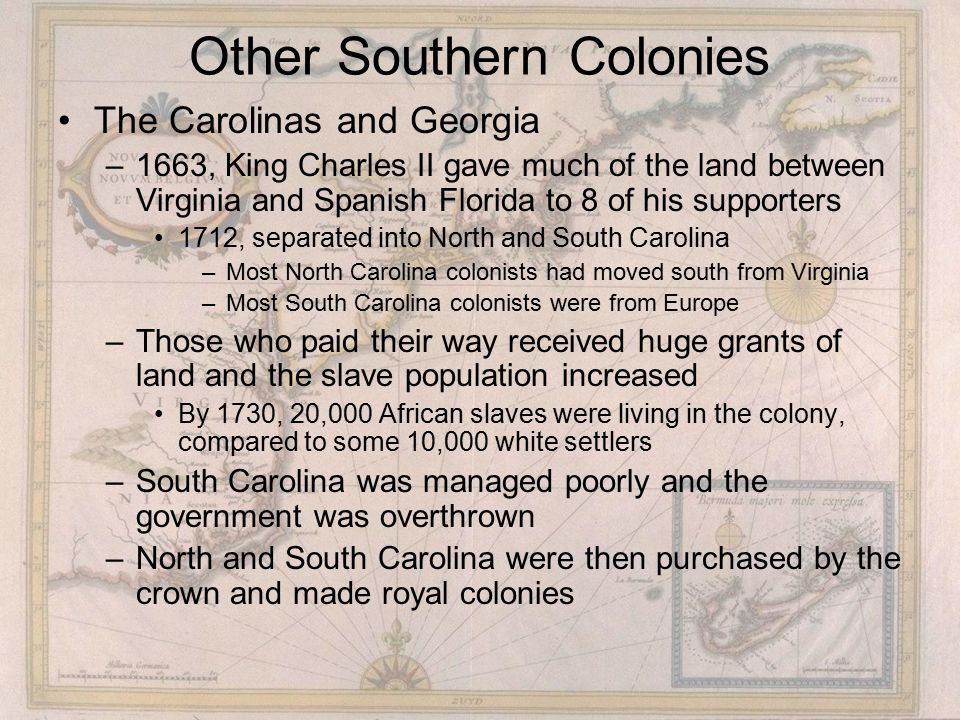 Other Southern Colonies
