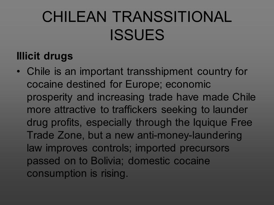 CHILEAN TRANSSITIONAL ISSUES