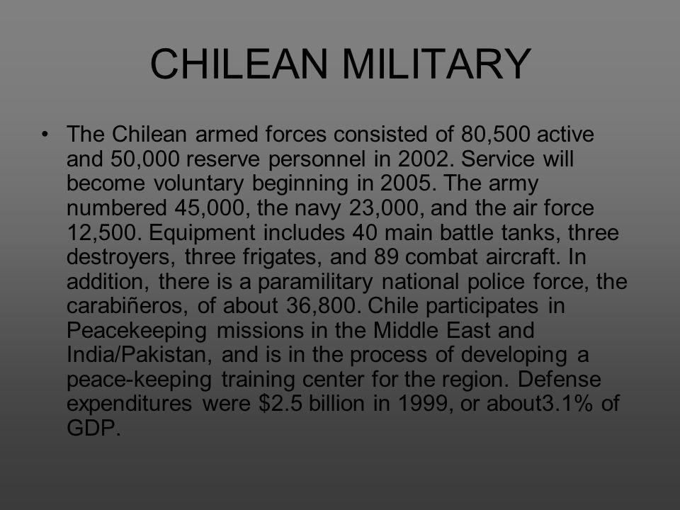 CHILEAN MILITARY