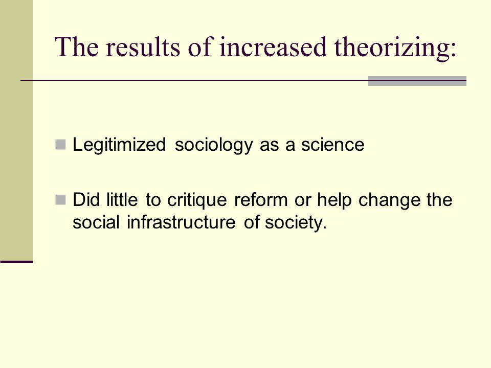 The results of increased theorizing: