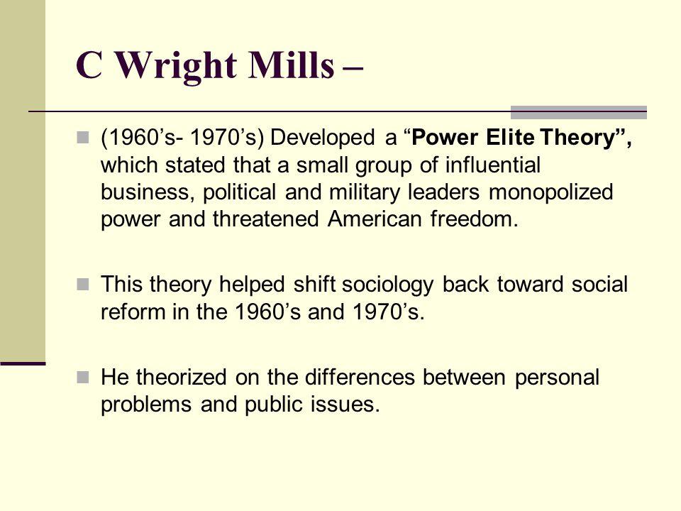 C Wright Mills –