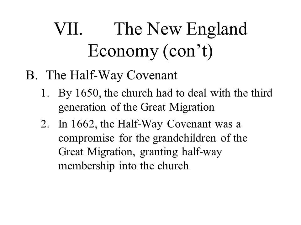 VII. The New England Economy (con't)