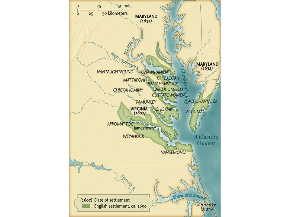 European Settlement in the Chesapeake, ca. 1650 • pg. 56