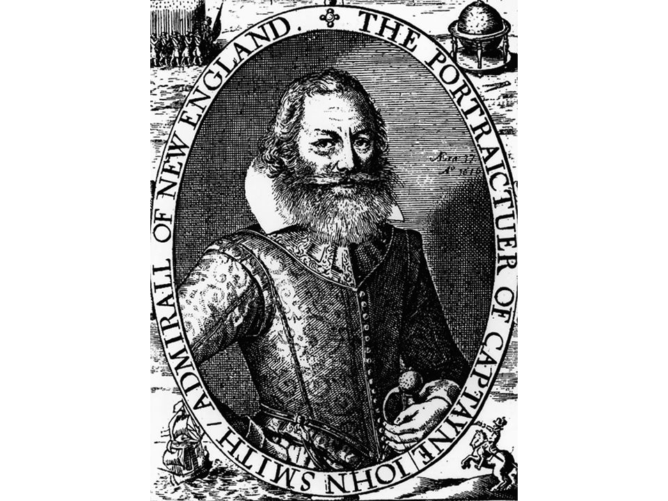 fig02_03_01.jpg Page 51: A portrait of John Smith, the leader of the early Virginia colony, engraved on a 1624 map of New England.