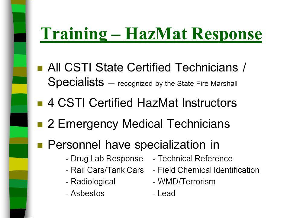 Training – HazMat Response