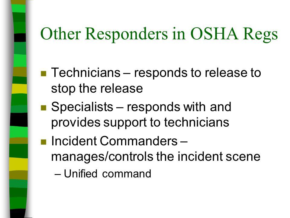 Other Responders in OSHA Regs