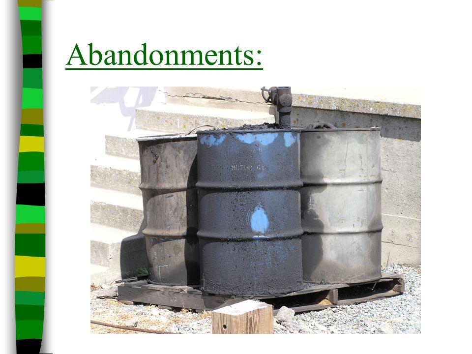 Abandonments: