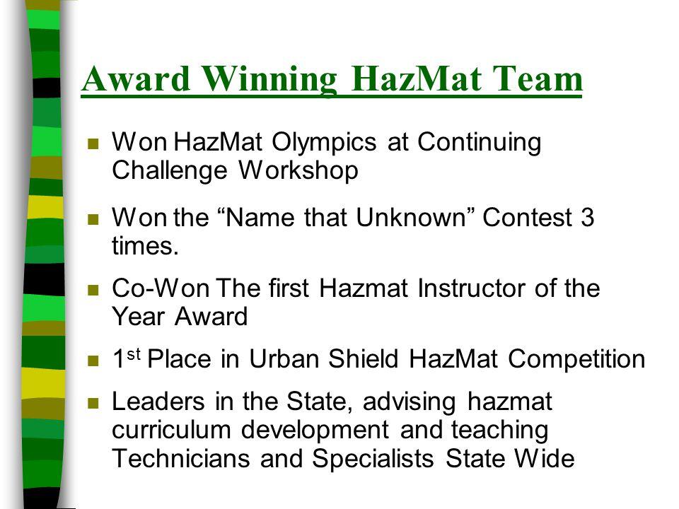 Award Winning HazMat Team
