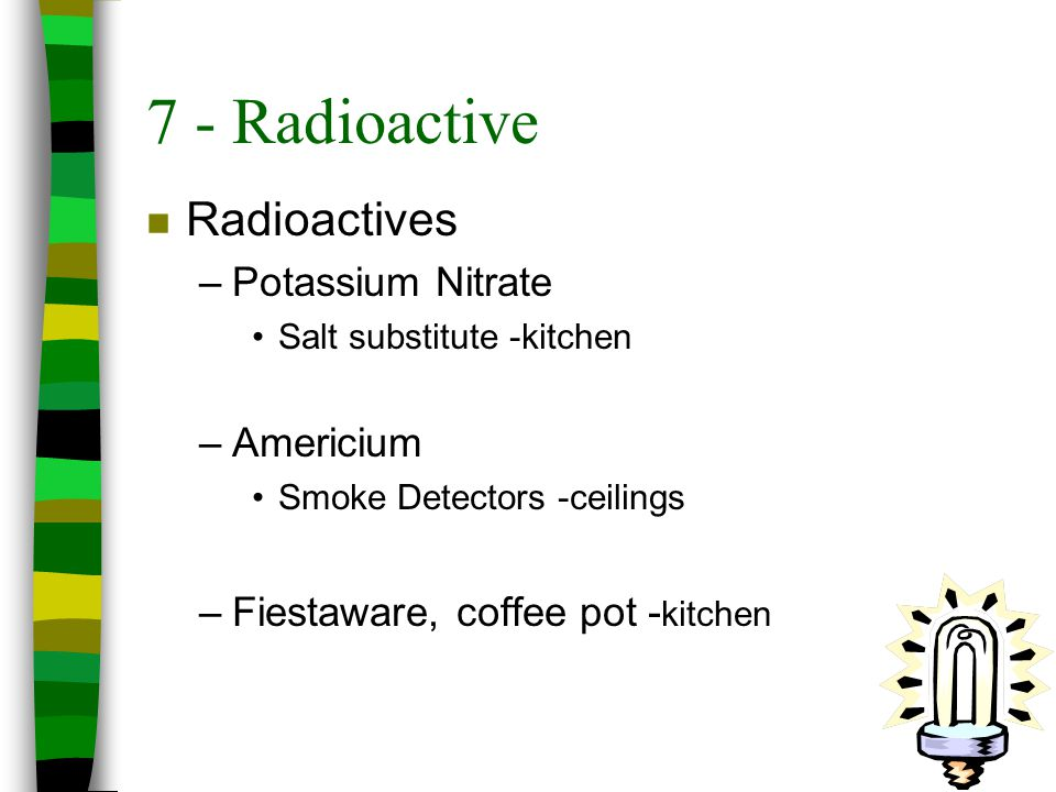 7 - Radioactive Radioactives Potassium Nitrate Americium