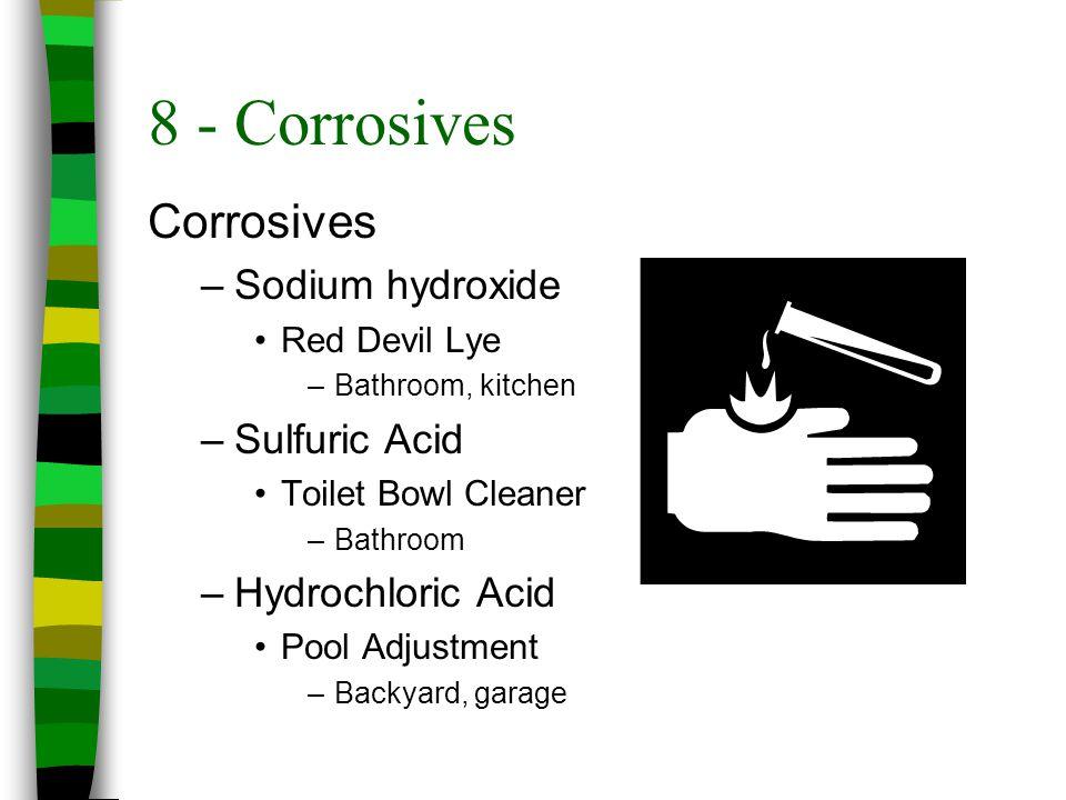8 - Corrosives Corrosives Sodium hydroxide Sulfuric Acid