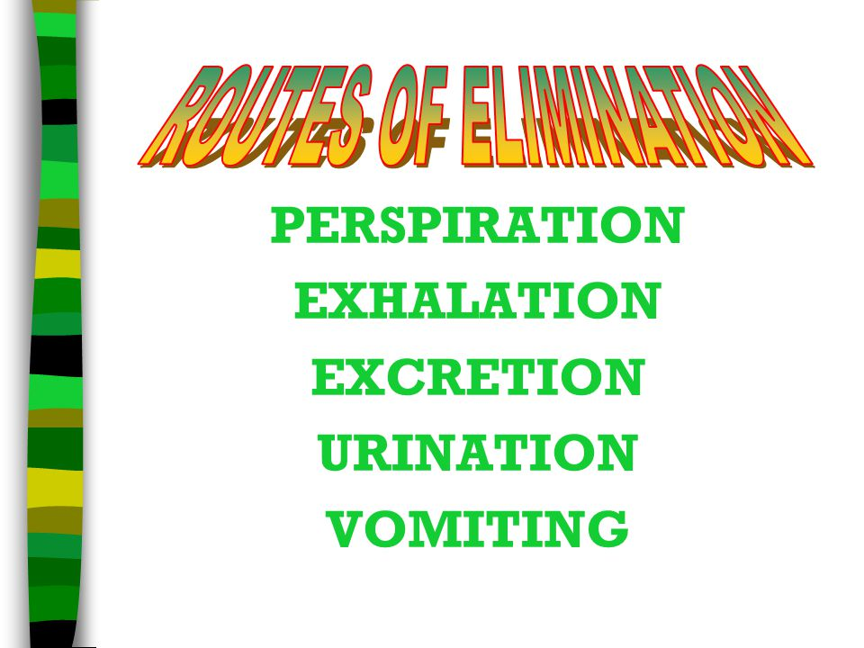 PERSPIRATION EXHALATION EXCRETION URINATION VOMITING