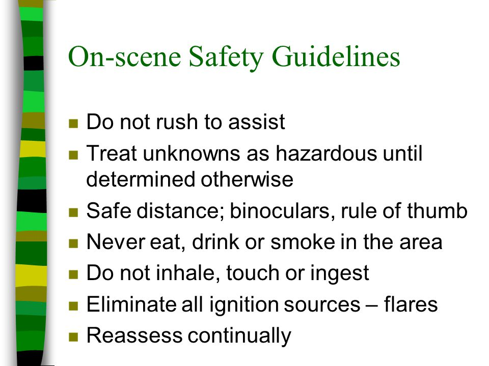 On-scene Safety Guidelines