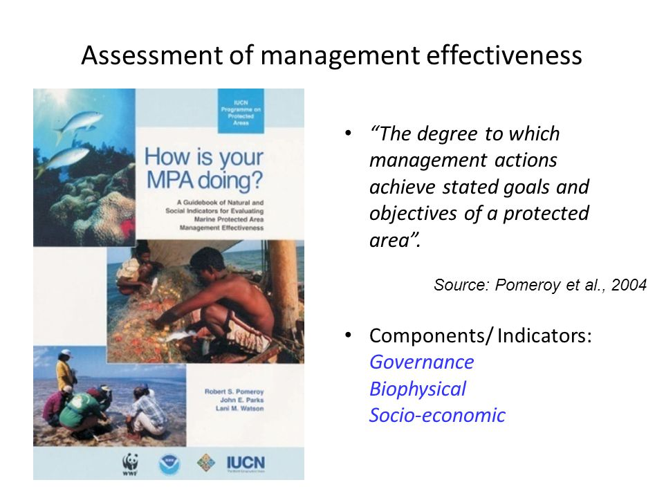 Assessment of management effectiveness