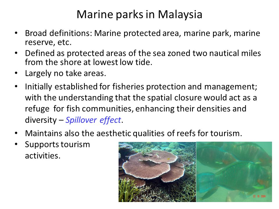 Marine parks in Malaysia