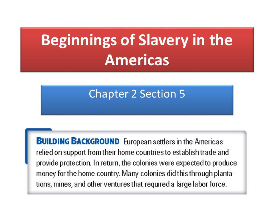 Beginnings of Slavery in the Americas