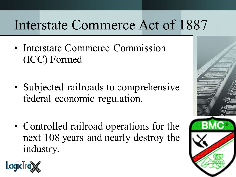 Interstate Commerce Act of 1887
