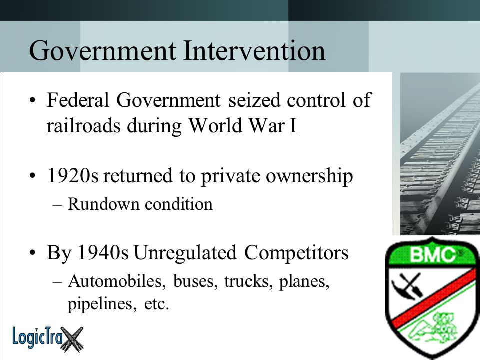 Government Intervention
