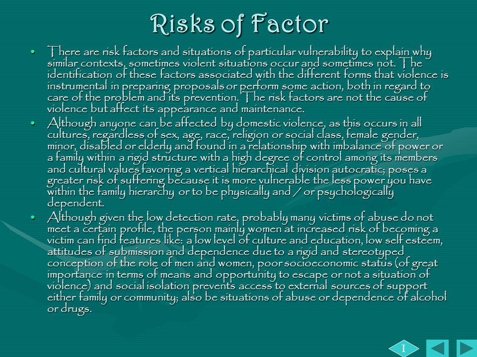 Risks of Factor