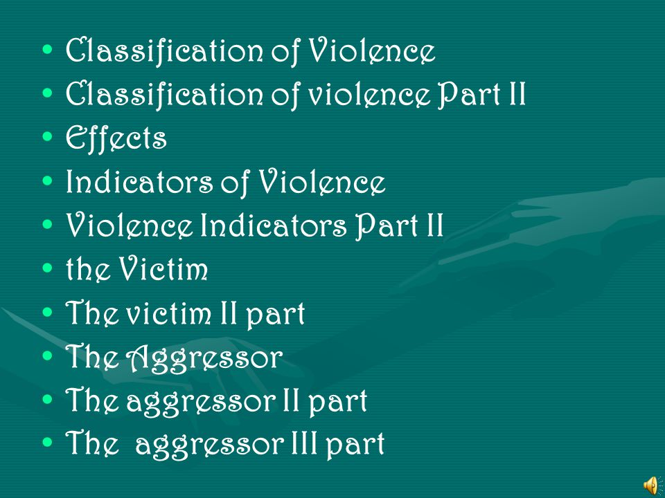 Classification of Violence