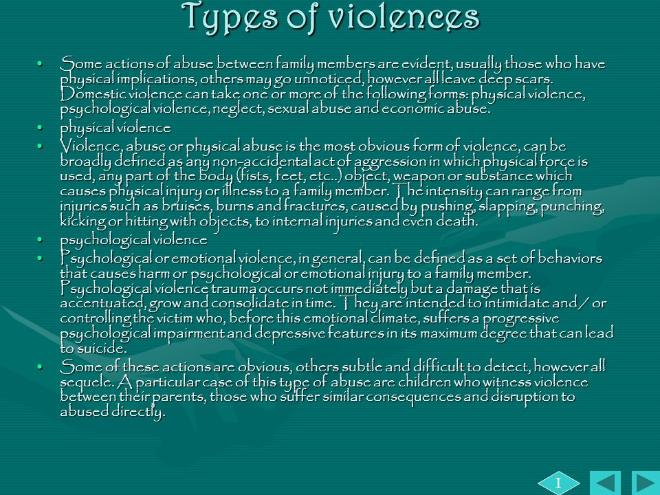 Types of violences