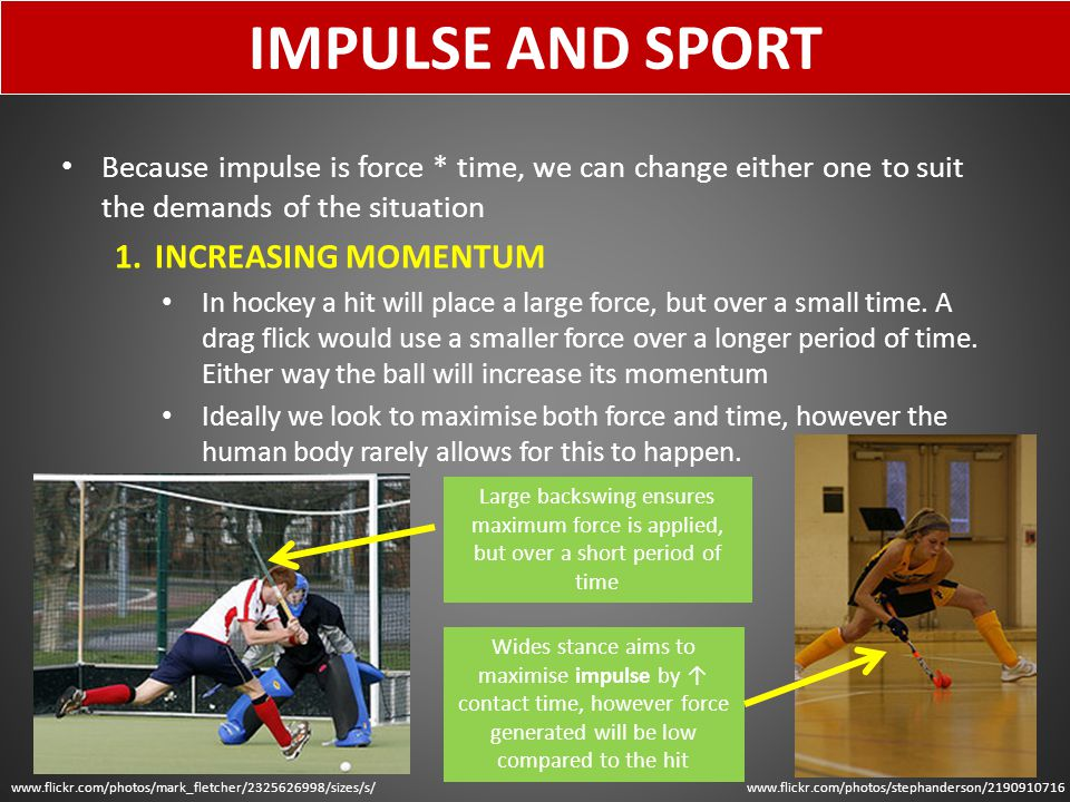 IMPULSE AND SPORT INCREASING MOMENTUM