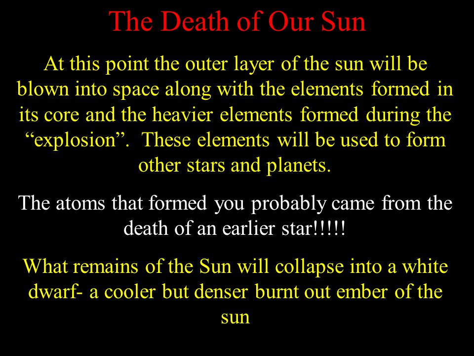 The Death of Our Sun