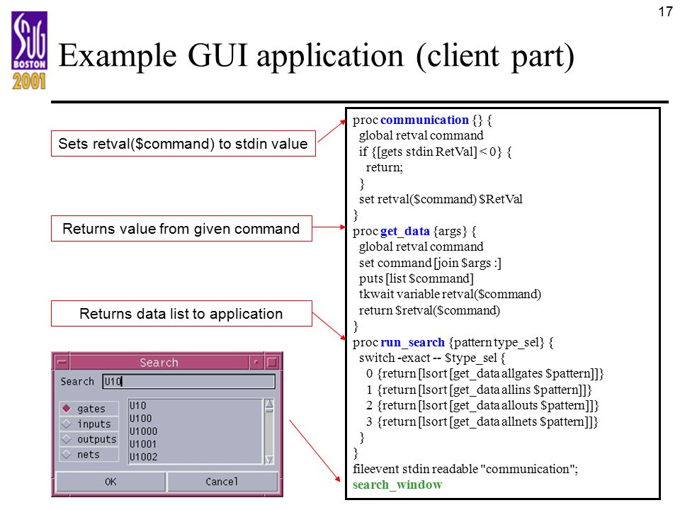 Example GUI application (client part)
