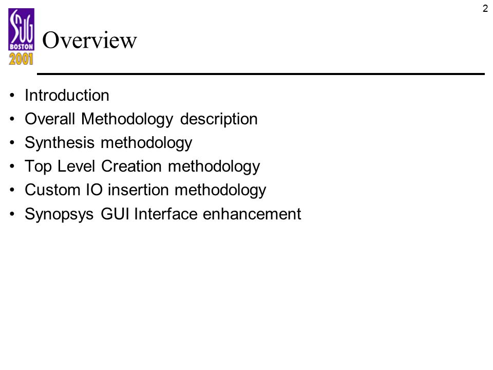 Overview Introduction Overall Methodology description