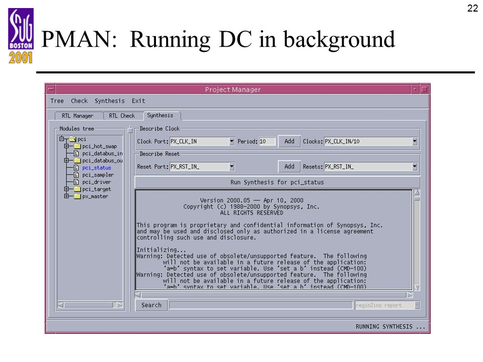 PMAN: Running DC in background