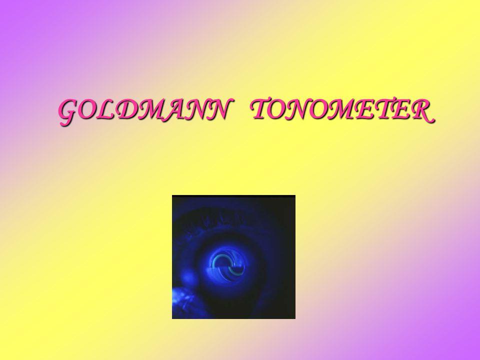 GOLDMANN TONOMETER