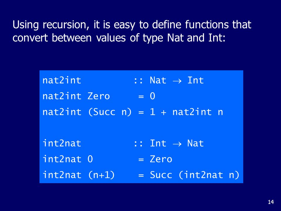 Two naturals can be added by converting them to integers, adding, and then converting back: