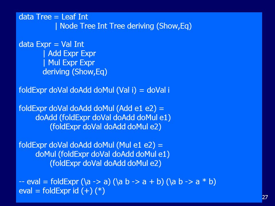 Exercises (1) Using recursion and the function add, define a function that multiplies two natural numbers.