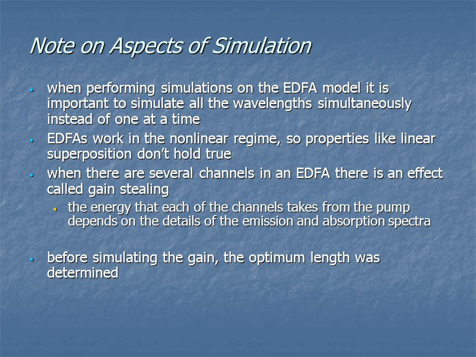 Note on Aspects of Simulation
