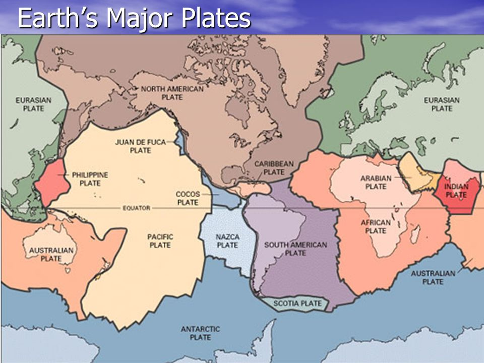 Earth's Major Plates
