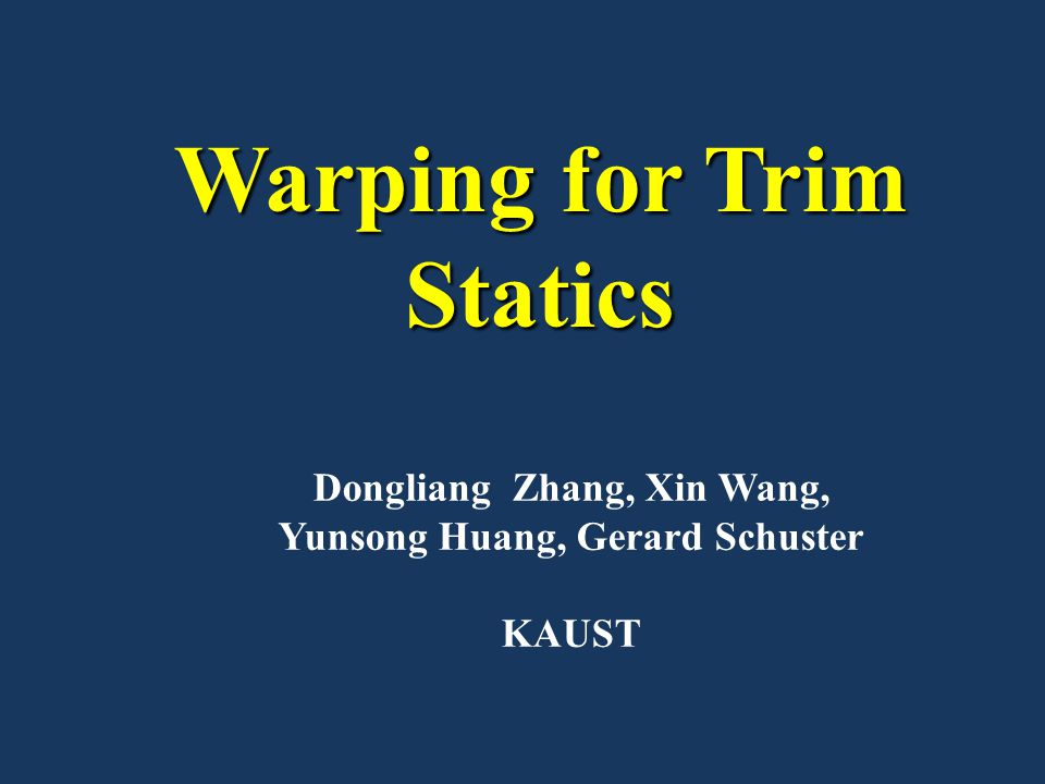 Warping for Trim Statics