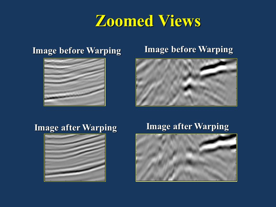 Zoomed Views Image before Warping Image before Warping