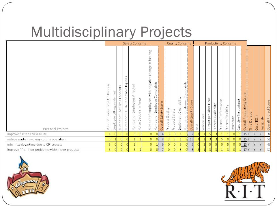 Multidisciplinary Projects