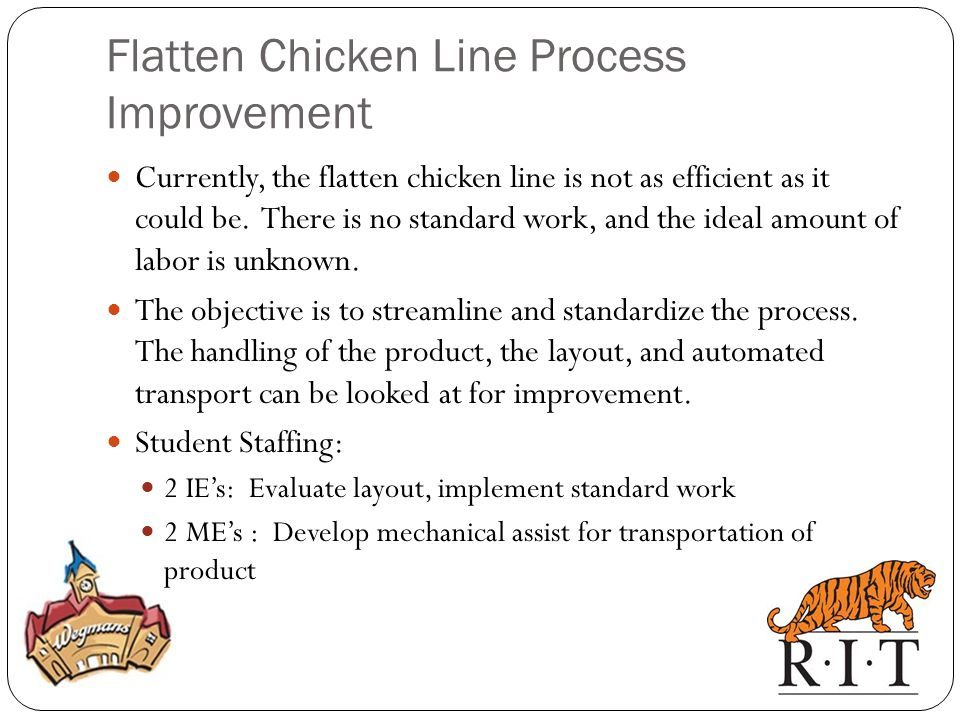Flatten Chicken Line Process Improvement