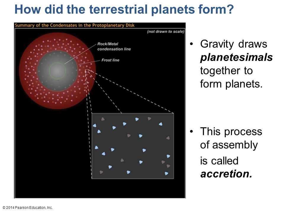 How did the terrestrial planets form