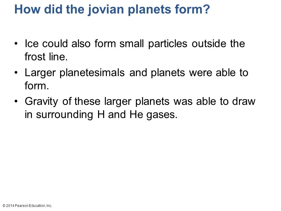 How did the jovian planets form