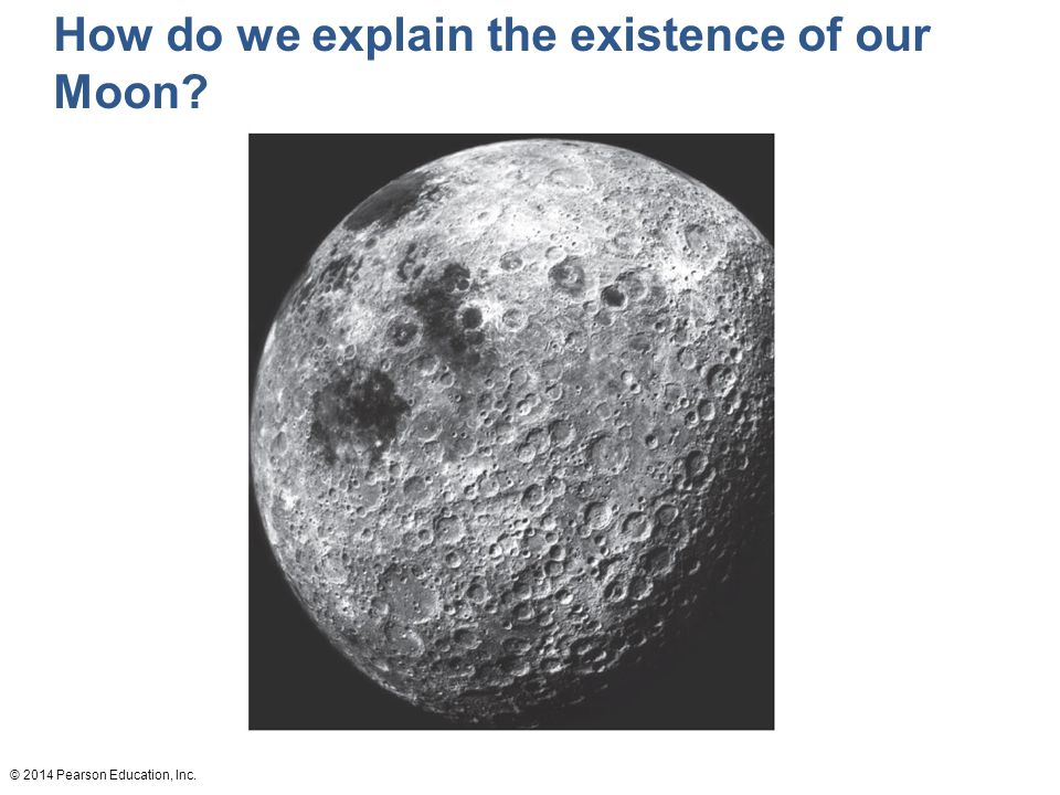 How do we explain the existence of our Moon