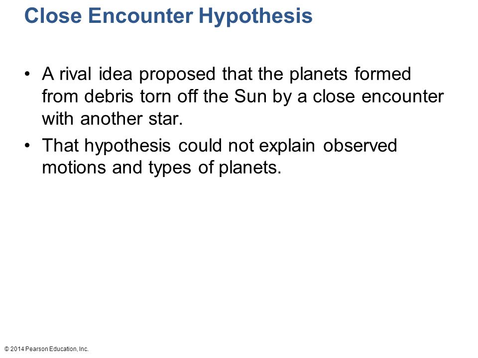 Close Encounter Hypothesis